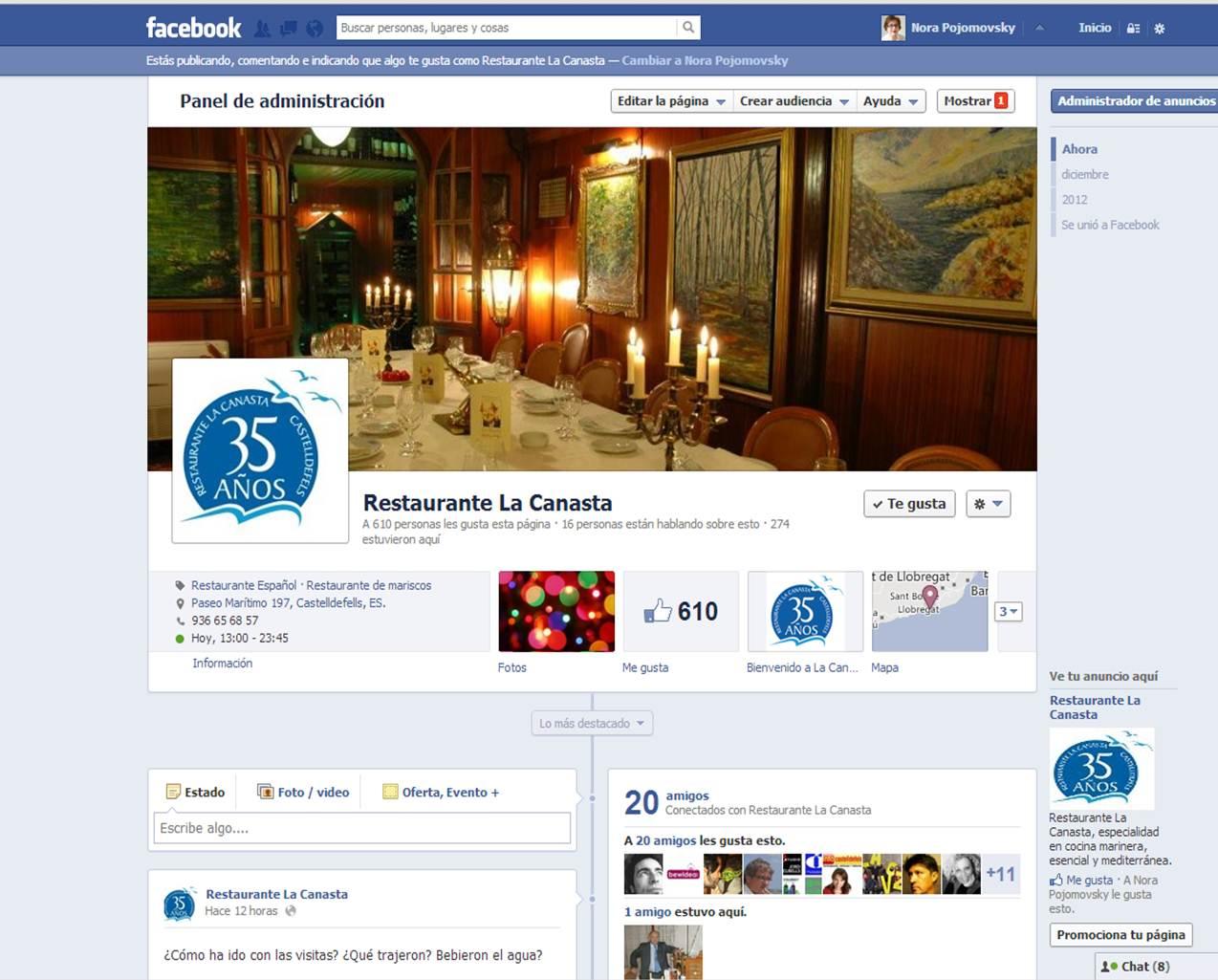 Facebook La Canasta